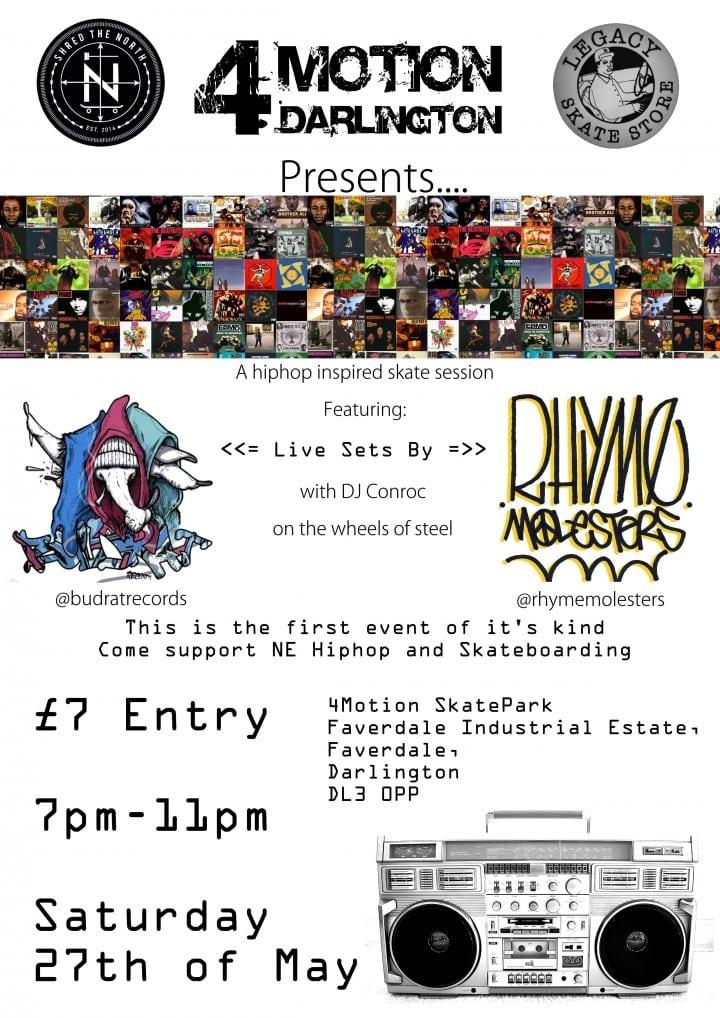 Hip Hop Skateboard Night @ 4Motion skatepark | England | United Kingdom
